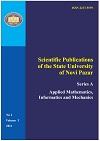 Scientific Publications of the State University of Novi Pazar Series A: Applied Mathematics, Informatics and mechanics