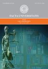 Facta universitatis - series: Law and Politics