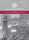 Facta universitatis - series: Philosophy, Sociology, Psychology and History